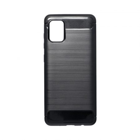 Silikonski ovitek carbon za Samsung Galaxy A31 črn