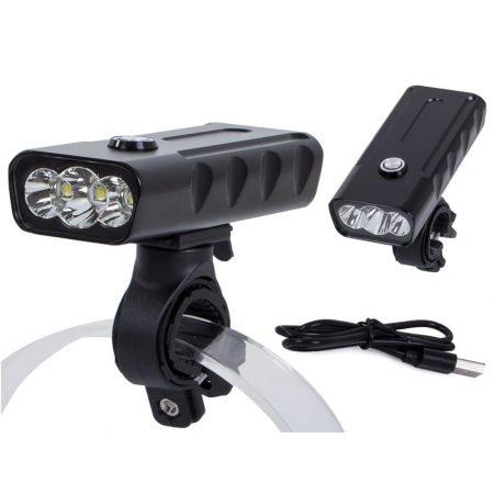 Kolesarska LED luč sprednja cree kovinska s powerbank funkcijo