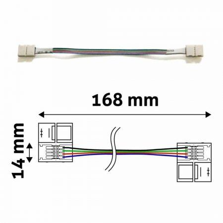 Konektor za RGB LED trakove obojestranski s kablom 14 cm obojestranski