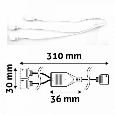 Konektor za RGB LED trakove s kablom dvojni