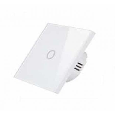 LED stekleno stikalo na dotik enojno - belo