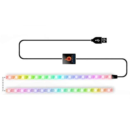 Pametni USB LED trak WS2812B 5V 60 Smart LED 1m + krmilnik WiFi