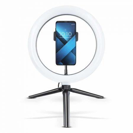 Ring LED svetilka z držalom za telefon