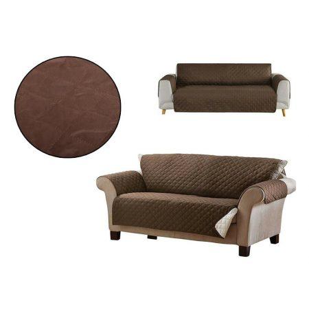 Zaščitna dvostranska prevleka za kavč temno rjava / bež 240 x 165 cm