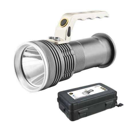 ALU ročna svetilka IP65 5W 2x18650 s polnilnikom