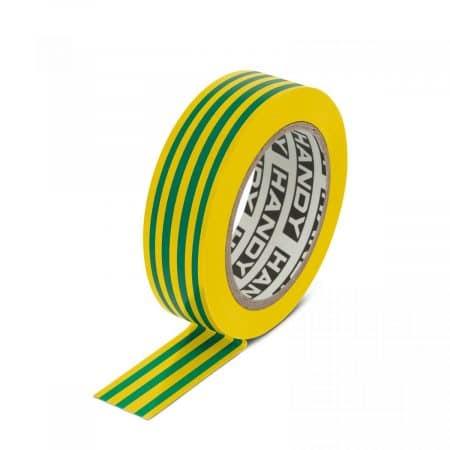 Izolacijski trak 19 mm 10 m zeleno / rumen