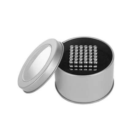 Magnetna kocka 216 kos 5mm srebrna v škatlici