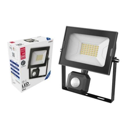 SMD LED reflektor 30W slim hladno bel 6400K s senzorjem