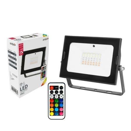 SMD LED reflektor 30W slim RGB z daljincem