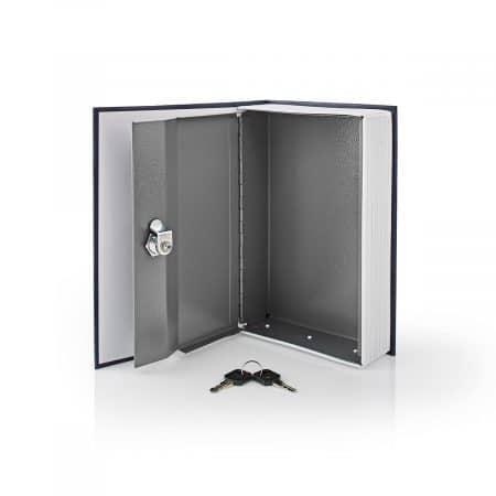 Sef v obliki knjige kovinski 1.6l (22.8 × 14.7 × 4.8 cm)