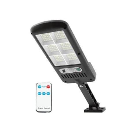 Solarna LED stenska svetilka z daljincem 120 LED 24W 1800lm s senzorjem