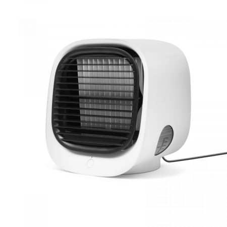 Prenosni mini ventilator - hladilec zraka - USB - bel