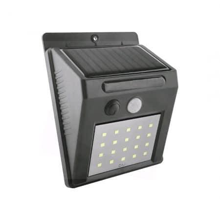 Stenska solarna svetilka 20 LED 2W črna