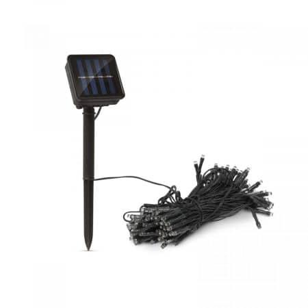 LED solarna svetilka - 50 kosov pisanih LED - 2 funkciji - 5 + 2 m