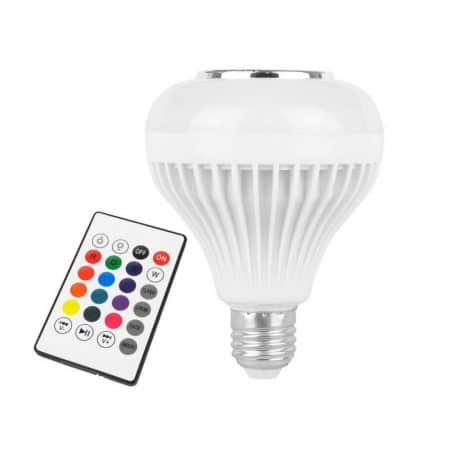 RGB LED sijalka z bluetooth zvočnikom in daljincem 12W