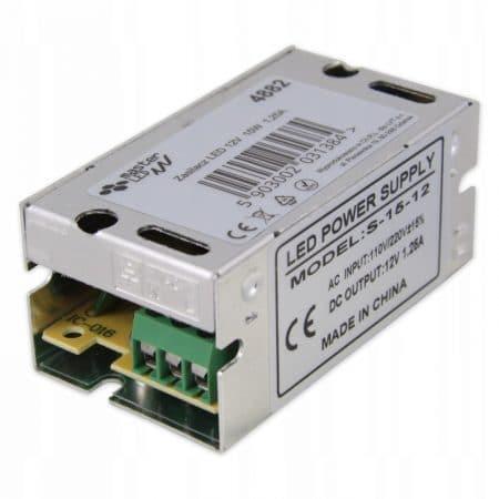 LED napajalnik vgradni 12V 15W 1,25A