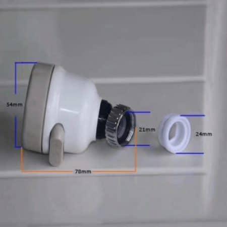 Nastavek za pipo za varčevanje vode s tremi curki