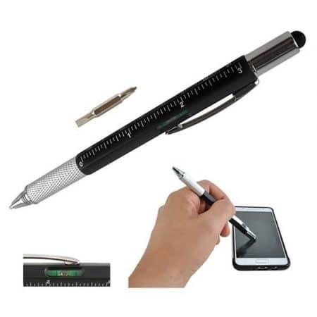 Večnamenski kemični svinčnik 6v1 s touch pisalom