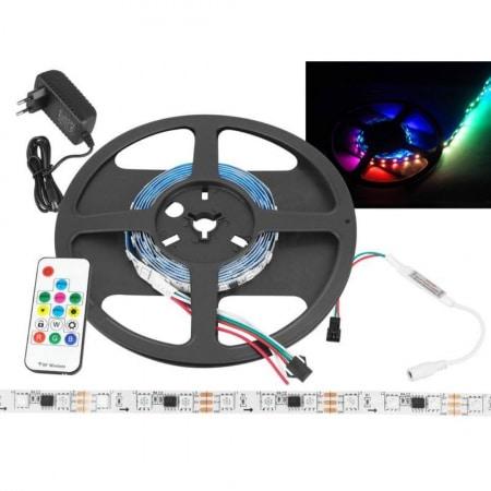 Set LED trak RGB WS2811 120 LED 2m IP20 + kontroler + pilot + napajalnik